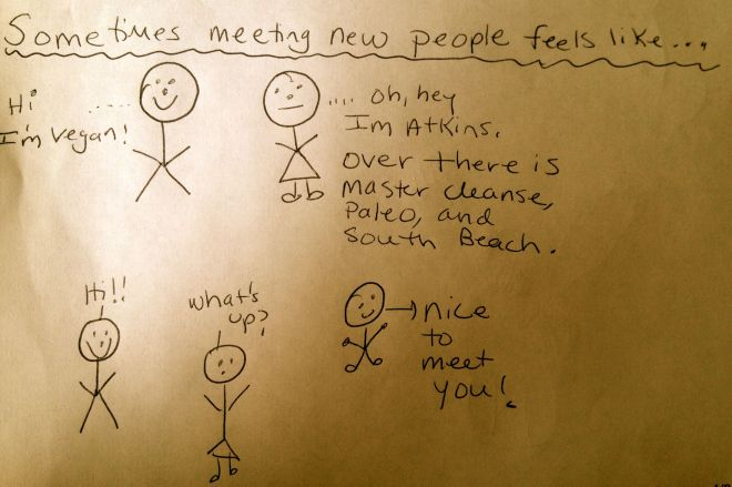 Sometimes...meeting new people feels like...